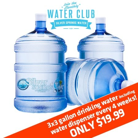 Bottles of 3 Gallon Drinking Water