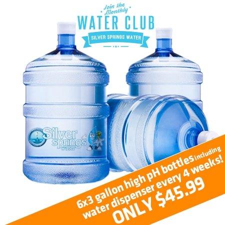 Bottles of 3 Gallon High pH Water